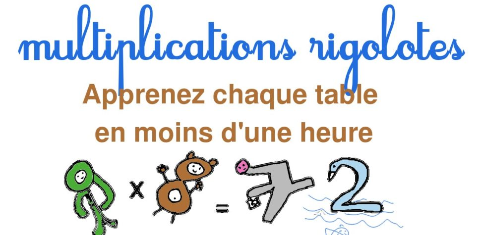 Comment apprendre table de multiplication - Les tables de multiplications ...