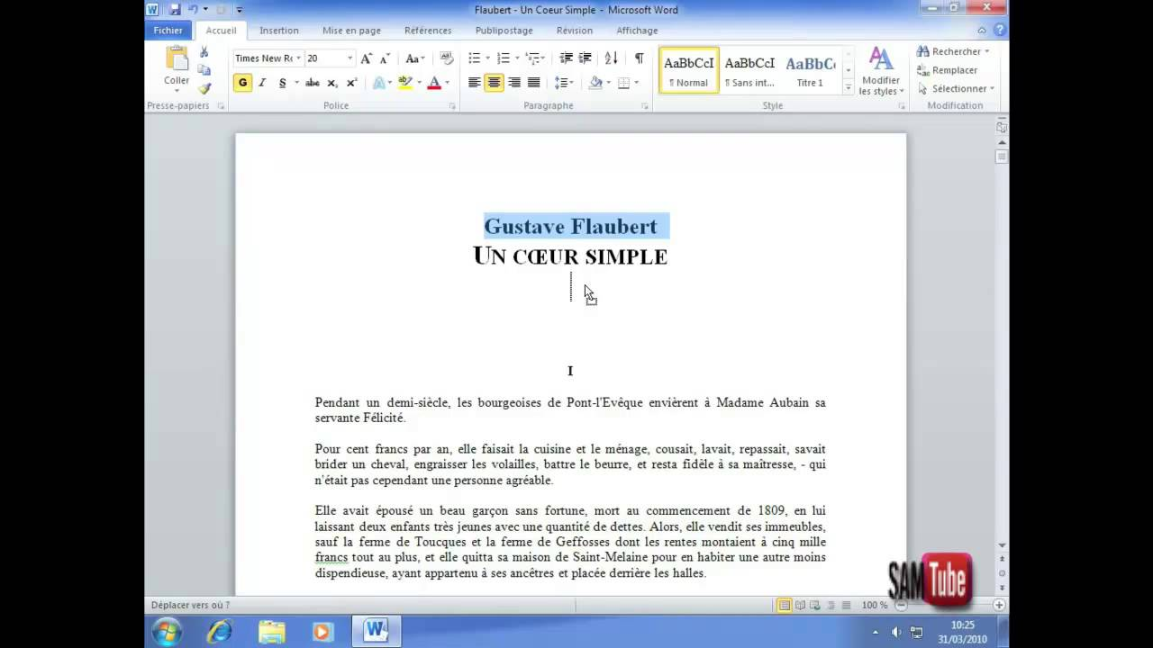 comment apprendre word 2010 photo 2