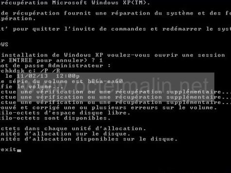 comment reparer xp avec la console de recuperation photo 3